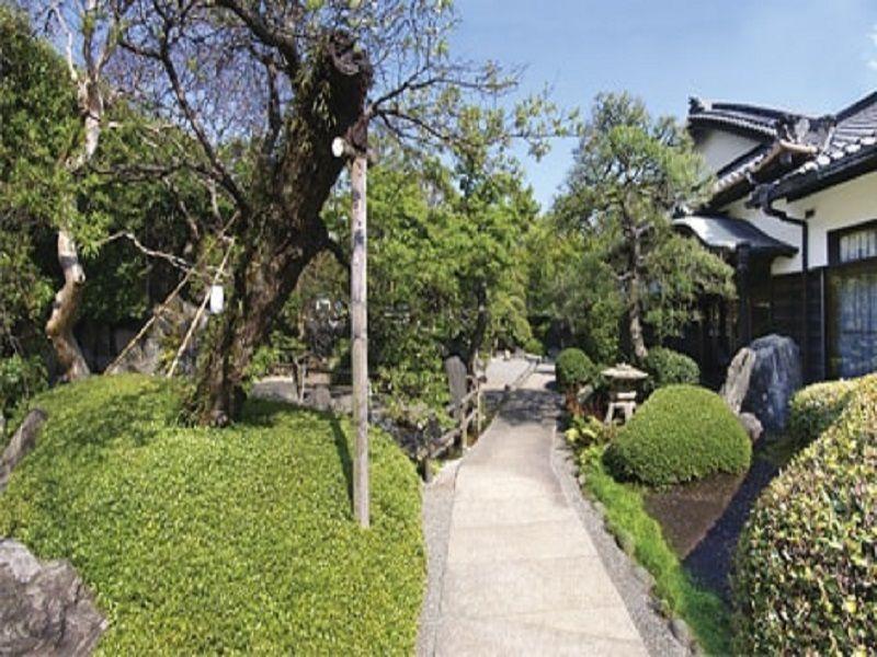 妙秀山 樹源寺 剪定された木