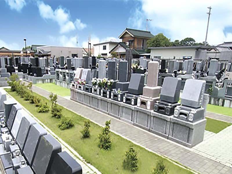 せんげん台西霊園 区画整理された墓域