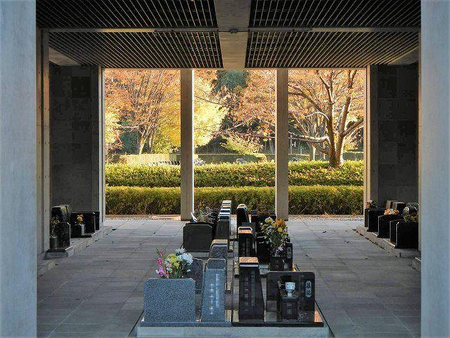 さいたま市営霊園 思い出の里 屋内墓地からの眺望