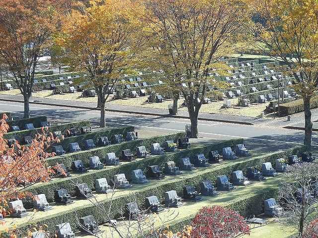 さいたま市営霊園 思い出の里 区画整理された墓域