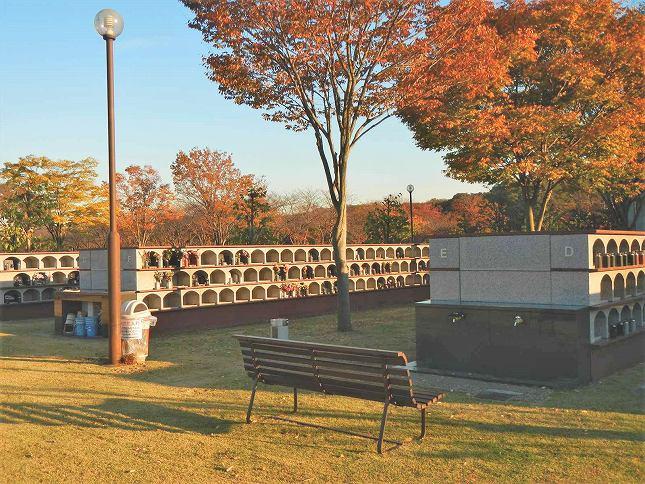 さいたま市営霊園 思い出の里 夕日と紅葉が美しい屋外墓地