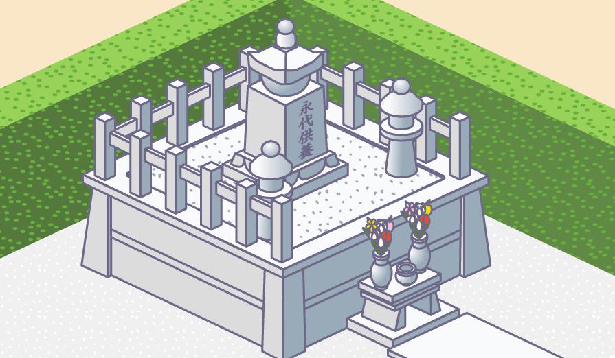 永代供養塔のイラスト