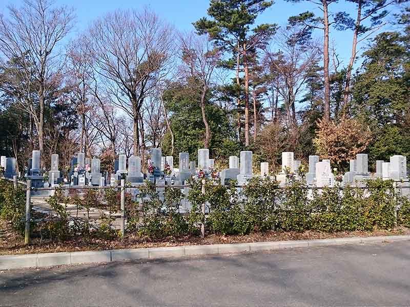 池田市営 五月山霊園 植栽に囲まれた区画
