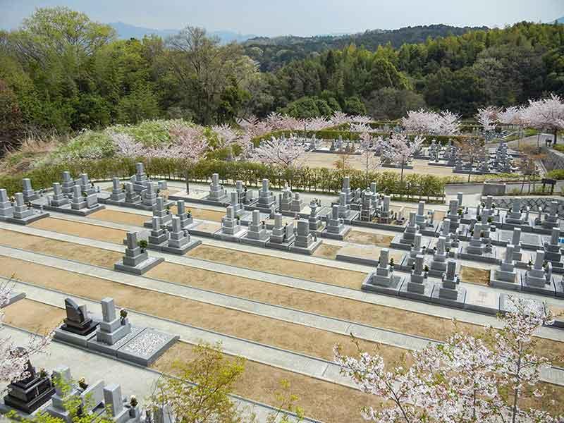 南大阪霊園のまだ空き区画がある墓域