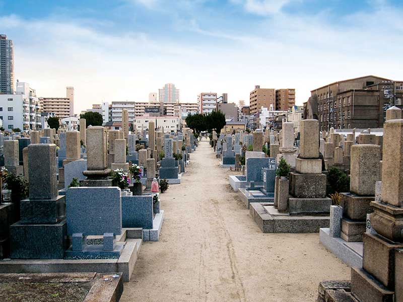 大阪市設 北霊園 明るく開放的な園内
