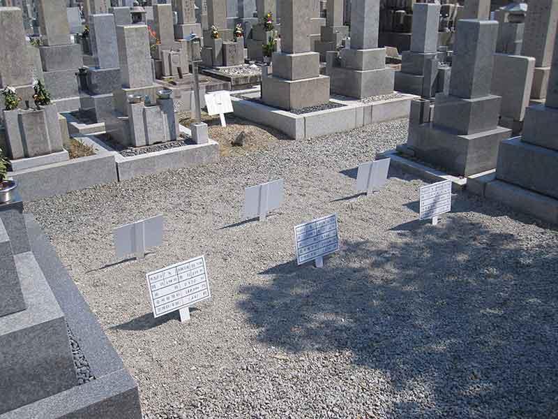八尾市立 龍華墓地 整備された区画