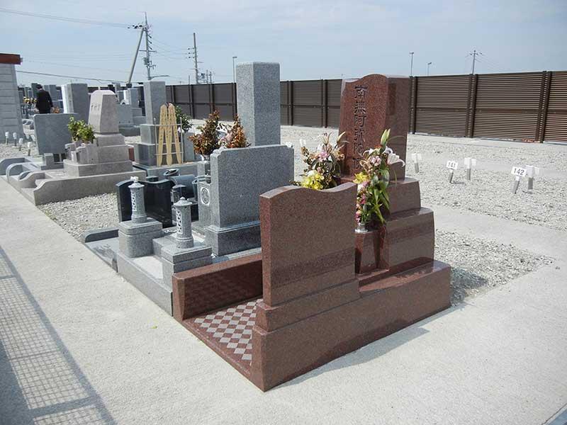 和泉市設 信太山墓地 整備された区画