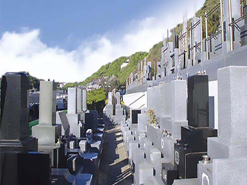 湘南海光霊園 斜面にある墓域
