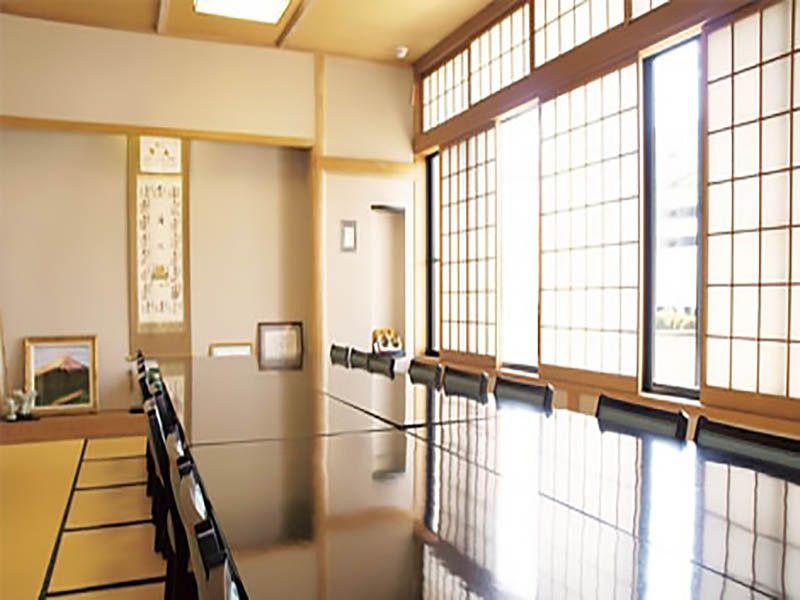 湘南海光霊園 法要施設内の休憩室