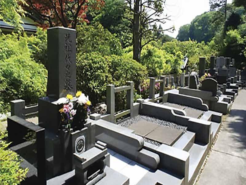 龍峰院 緑に囲まれた墓域