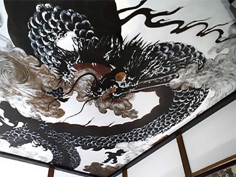 鎌倉七里ヶ浜霊園 天井に描かれた龍