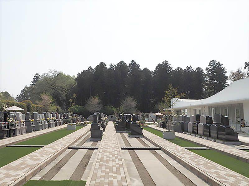 鶴ヶ島さくら並木霊園セントソフィア 区画整理された墓域