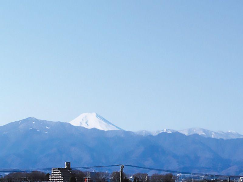 メモリアルサンステージ 霊園から見える富士山
