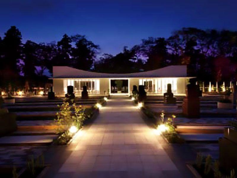 鶴ヶ島さくら並木霊園セントソフィア ライトアップの様子