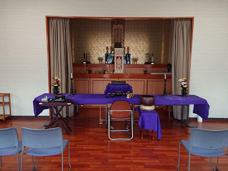 山田川霊園の法要施設