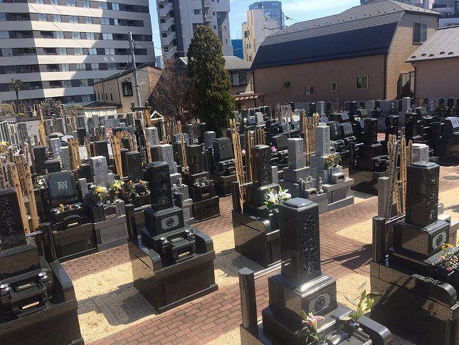 恵光メモリアル新宿浄苑 広々とした墓地
