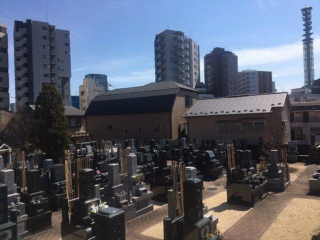 恵光メモリアル新宿浄苑 周囲は閑静な住宅街