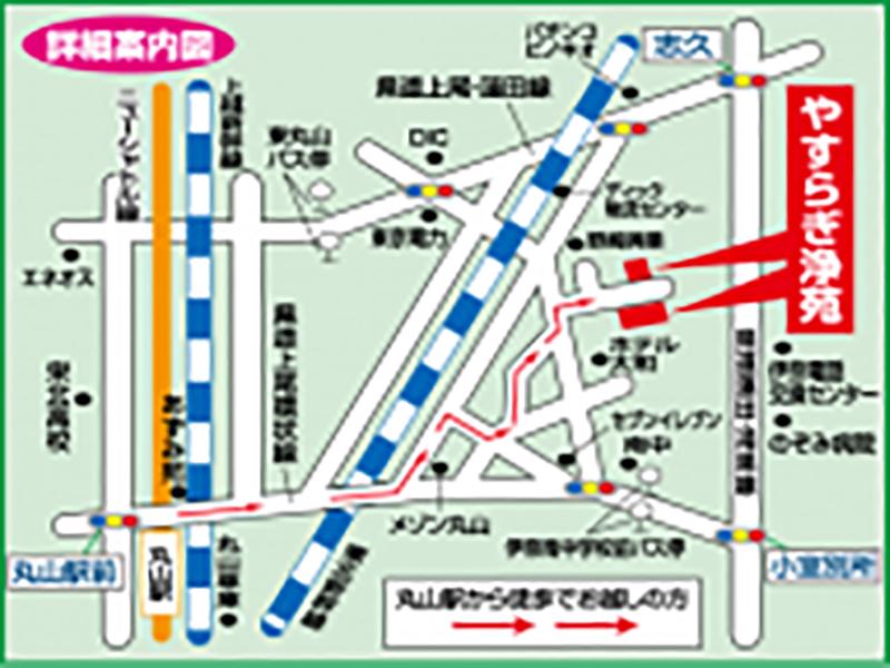 やすらぎ浄苑 アクセスマップ(詳細案内)