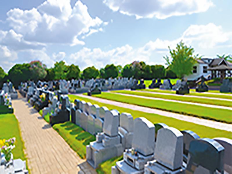 やすらぎ浄苑 苑内は全てゆとり墓地