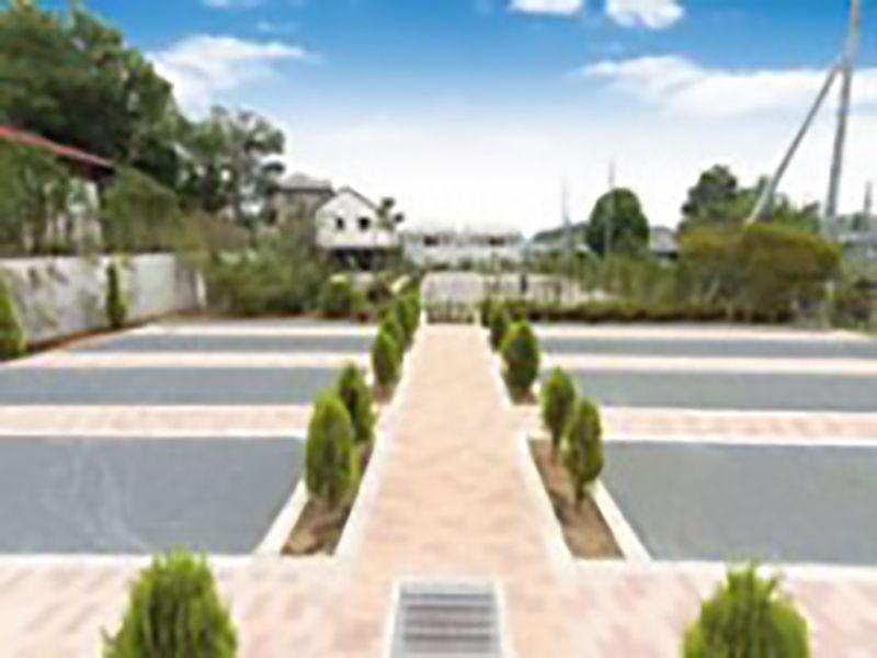 メモリアルガーデン山田 バリアフリー設計で平坦な墓域