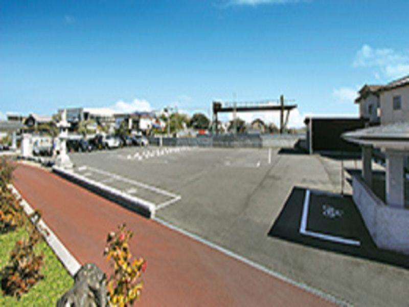 光輪霊園 バリアフリーの駐車場