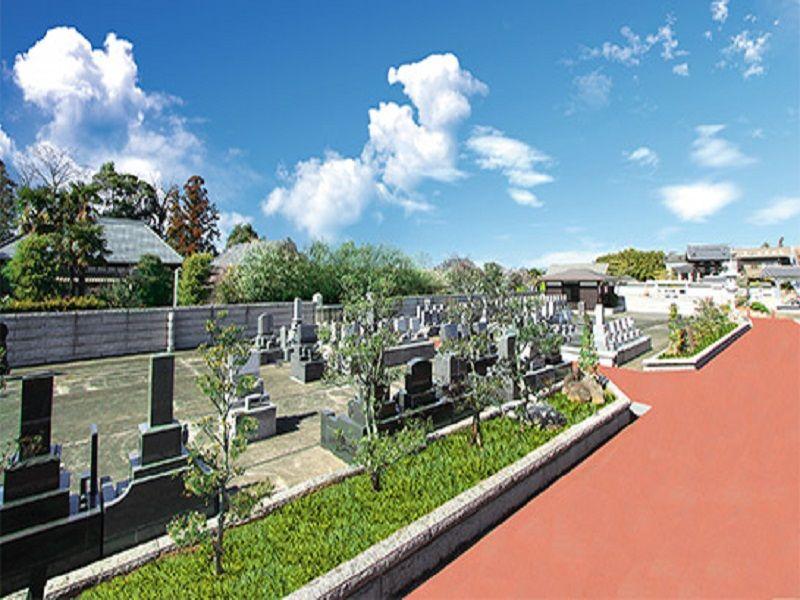 光輪霊園 緑に囲まれた開放的な墓域