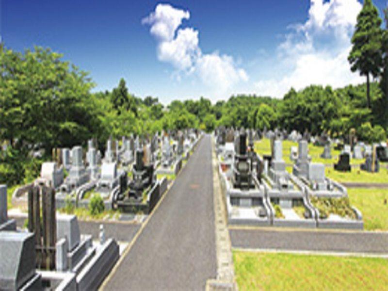 佐倉やすらぎの郷 墓地には様々な墓石が混在