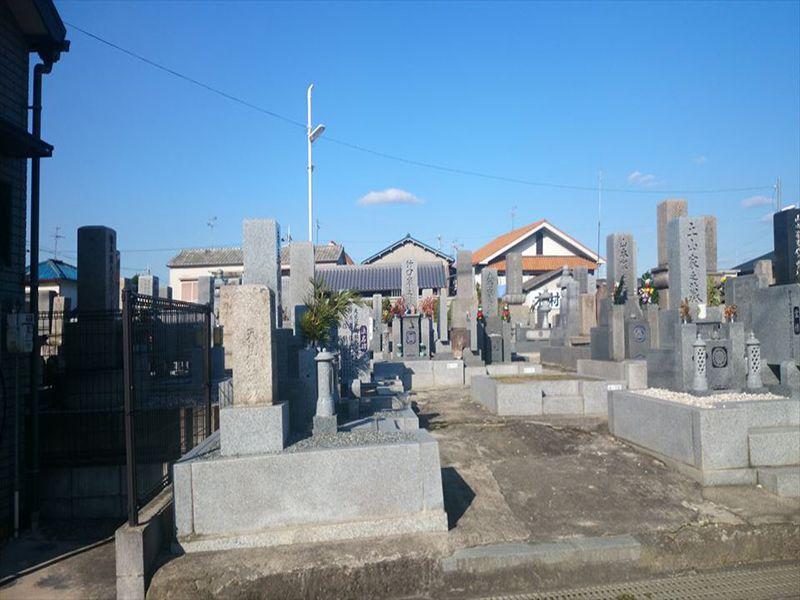 黒山共同墓地 整備された区画