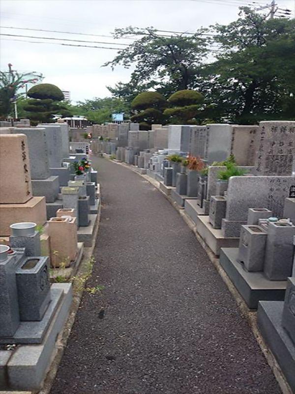 中浜霊園 フラットな参道