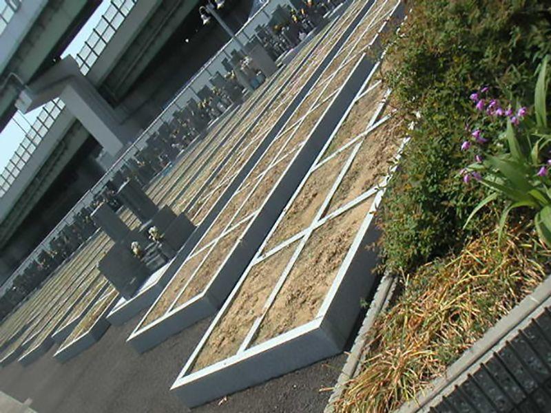高石市営 浜墓地 整備された区画