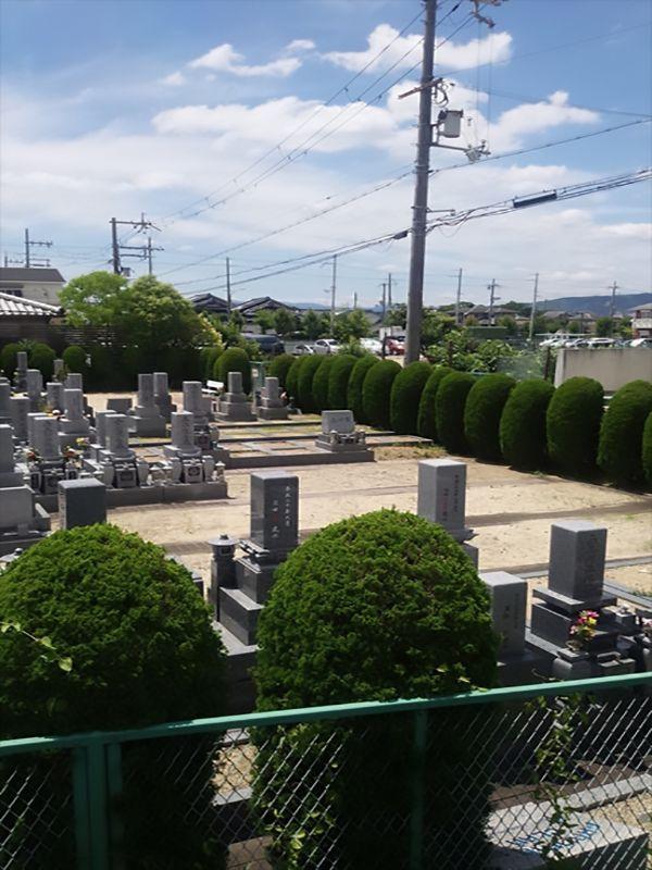 枚方招提墓地 植栽に囲まれた園内