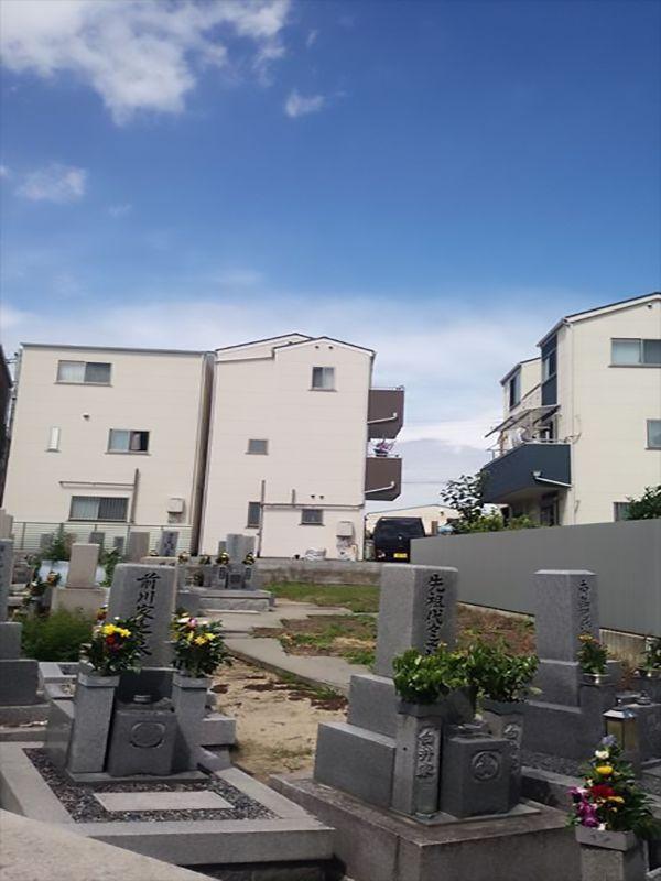 茨田大宮墓地 手入れされた墓域