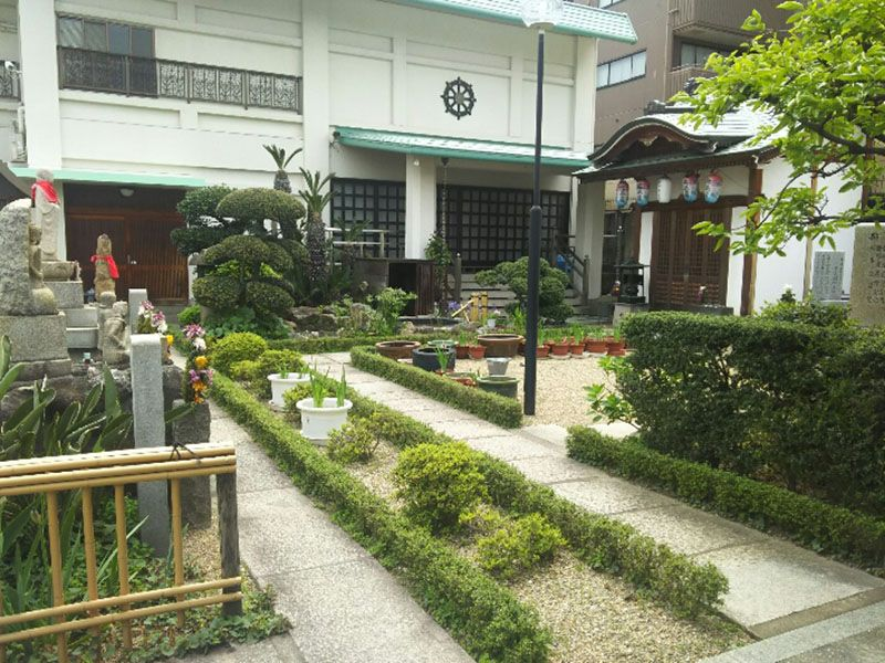 大善寺墓苑 植栽のある参道