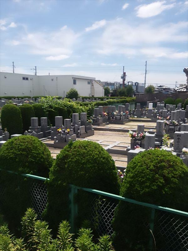 枚方招提墓地 一般墓所風景