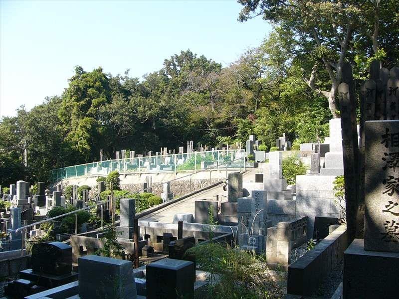 藤沢市営 西富墓地 緑豊かな墓地