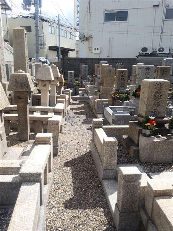 森河内墓地 整備された区画