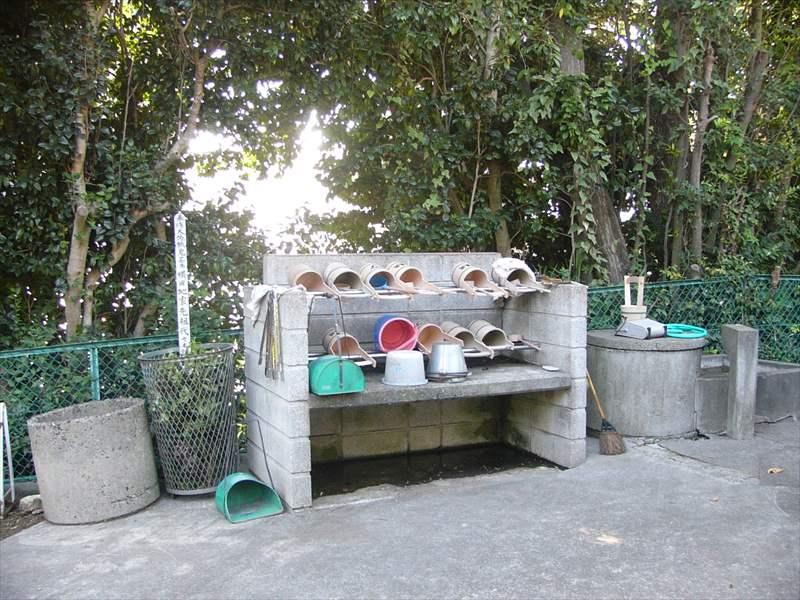 藤沢市営 西富墓地 整頓された水汲み場