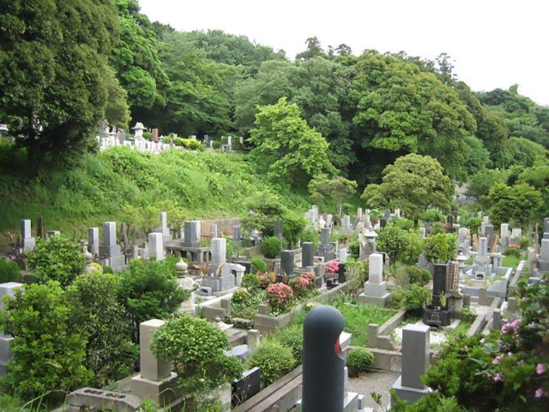 横浜市営 三ツ沢墓地 緑と共にある墓地