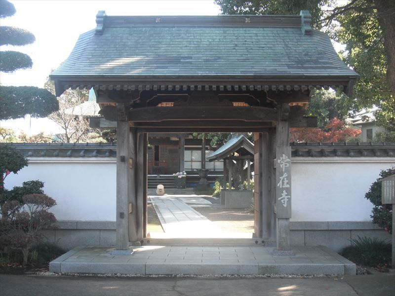 常在寺 厳かな山門