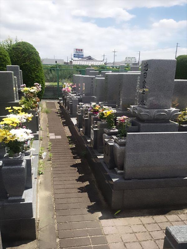 枚方招提墓地 和型墓石