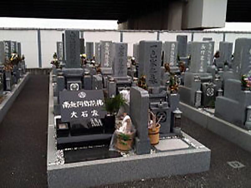 高石市営 浜墓地 広々とした墓域