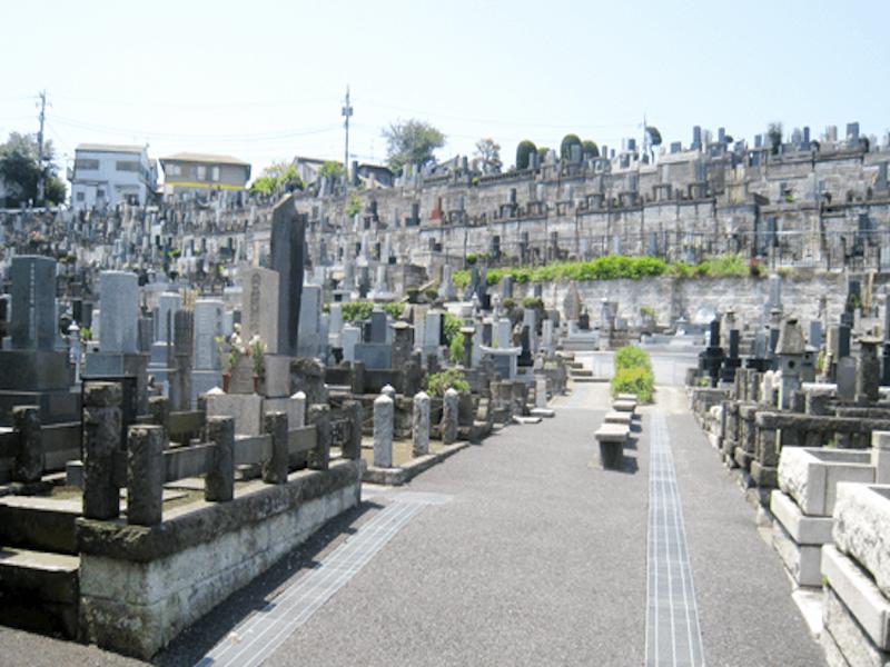 横浜市営 三ツ沢墓地 日当たりのよい墓域